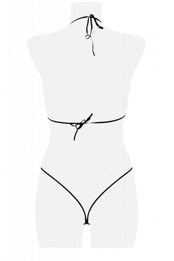 Detaljrikt spets-set i fyra delar