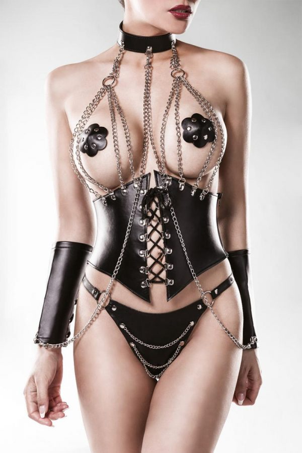 Corsage med stark BDSM-känsla