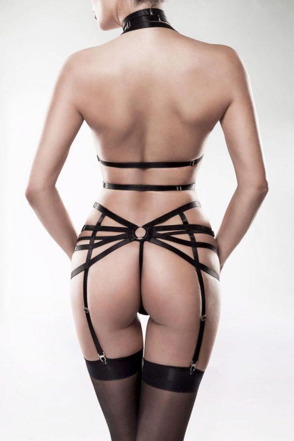 Harness-set med halvkupor i mesh