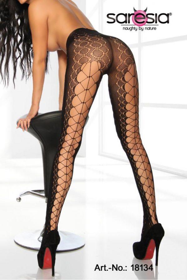 Fishnet-strumpbyxor med sexiga cutouts