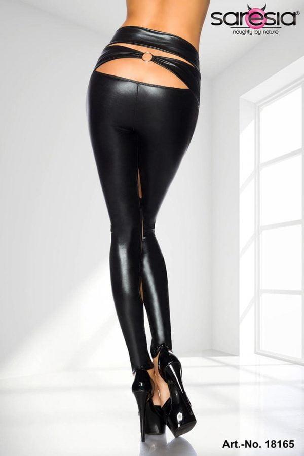 Wetlook-leggings med O-ringar