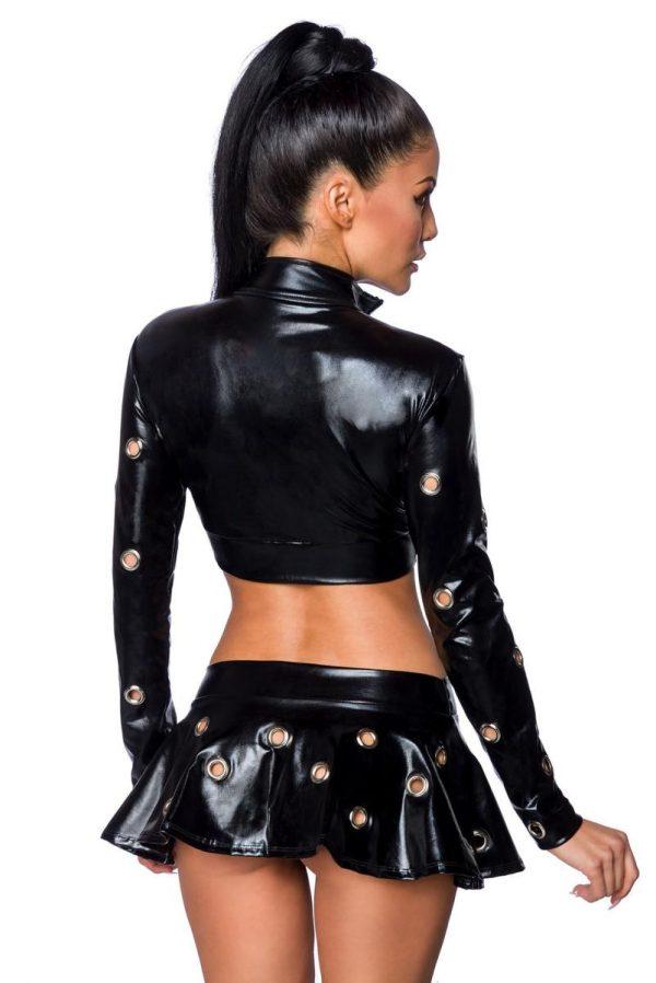 Jacka och kjol med metallringar
