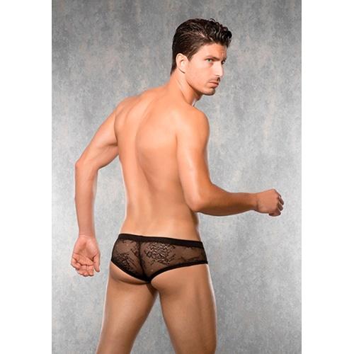 Shorts i spets – svart