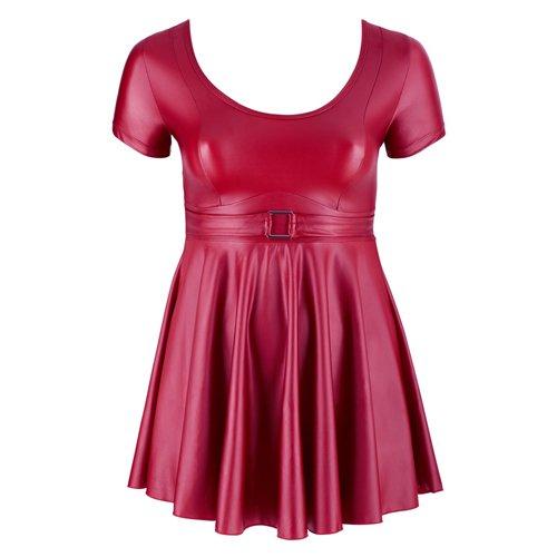 Röd wetlook-klänning
