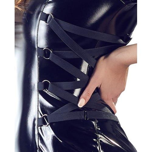 PVC klänning med långa ärmar