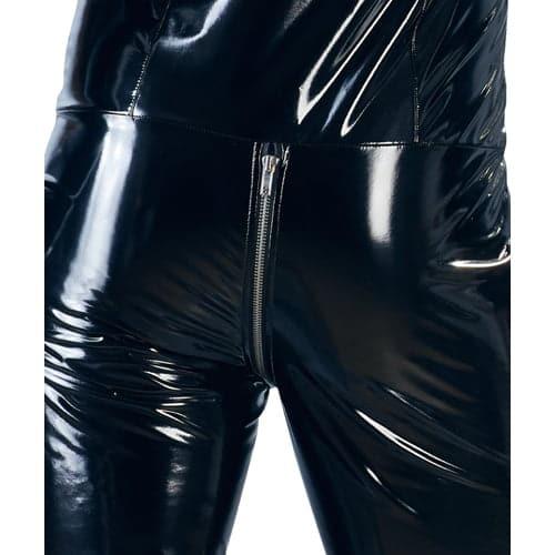 PVC -Overall med långa ben för män