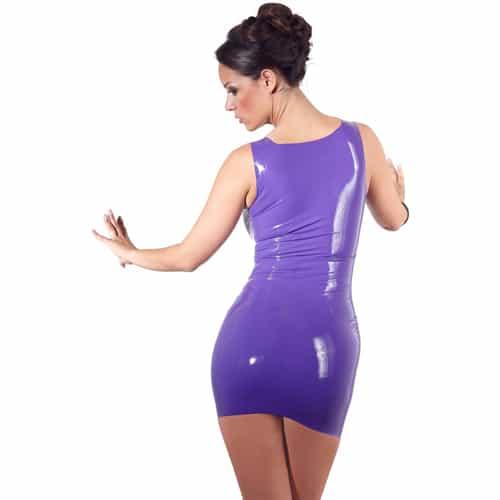 Latexklänning – Lila