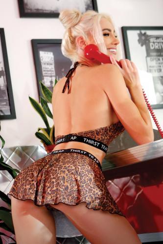 Thirst Trap kjol och BH med leopardmönster