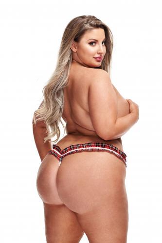 Stringtrosa Sexy school girl – Röd