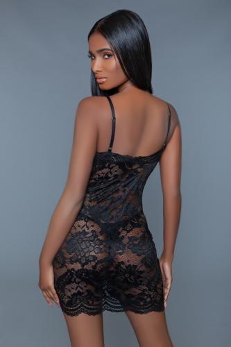 Blaire Spetsklänning med dragkedja – Svart