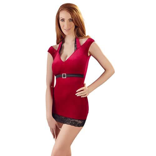 Sammetsklänning – Röd