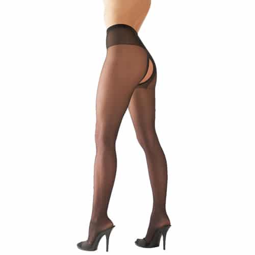 Grenlösa tights – svarta