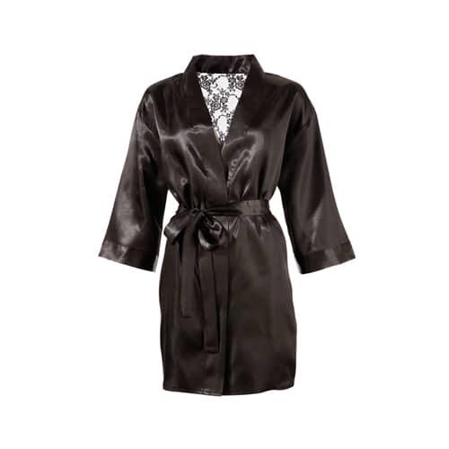 Kimono med baksida i spets