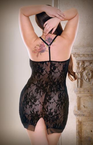 Isabella Spetsklänning med stringtrosa