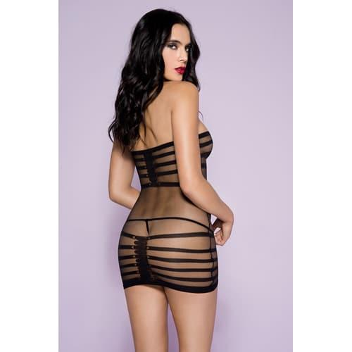 Meshklänning med stripesprint