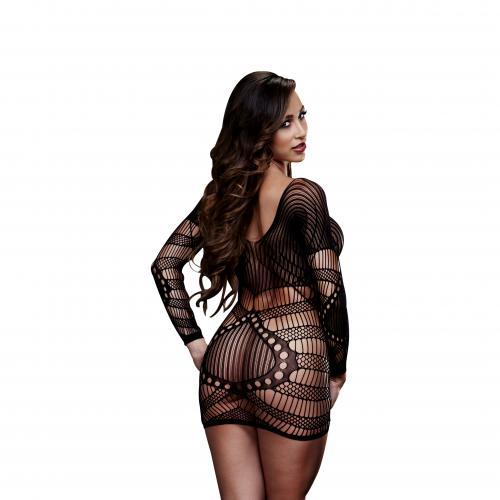 Baci – Sexig klänning med långa ärmar – Svart