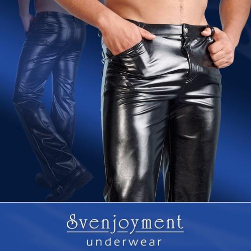 Byxor i läderimitation från Svenjoyment